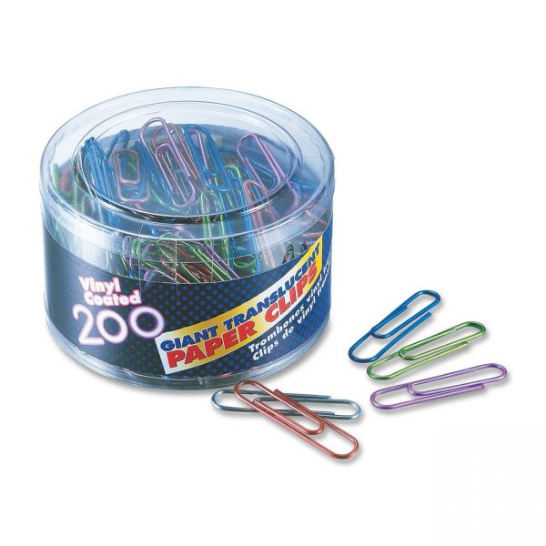 OIC Giant Translucent Paper Clips