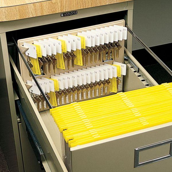 File Drawer Key Rack, 40-Key Capacity