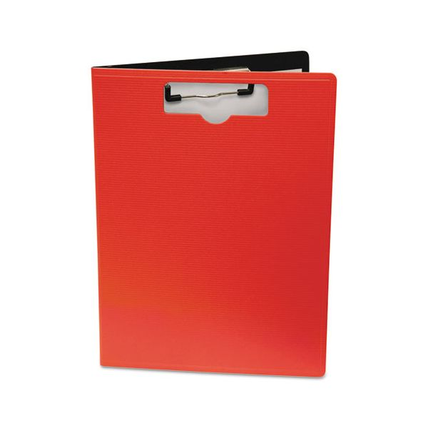 """Mobile OPS Portfolio Clipboard With Low-Profile Clip, 1/2"""" Capacity, 8 1/2 x 11, Red"""