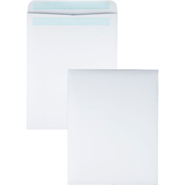 Quality Park Redi Seal Catalog Envelope, 12 x 15 1/2, White, 100/Box