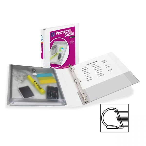 """Avery Protect & Store EZ-Turn 1"""" 3-Ring View Binder"""