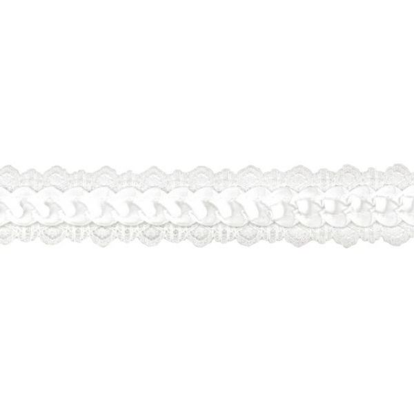 "Offray 1"" Caroline Lace Edge Satin Ribbon"