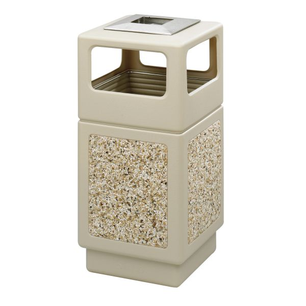 Safco Canmeleon Aggregate Side Open Receptacle with Ash Urn