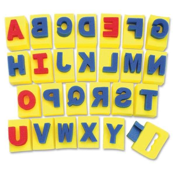 Chenille Kraft Sponge Letters With Integrated Handles
