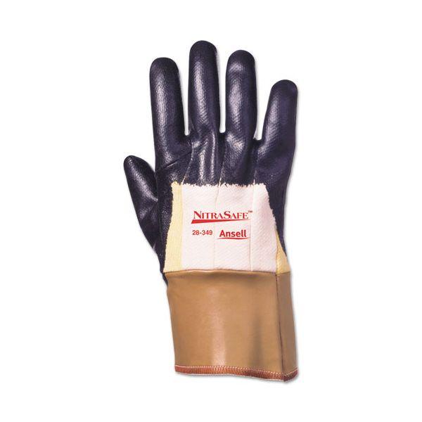 AnsellPro Nitrasafe Kevlar Work Gloves, Size 10, Kevlar/Nitrile/Jersey, Black/Brown, 12 PR