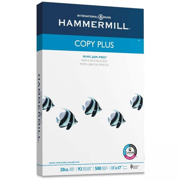 "Hammermill Copy Plus White 11"" x 17"" Copy Paper"