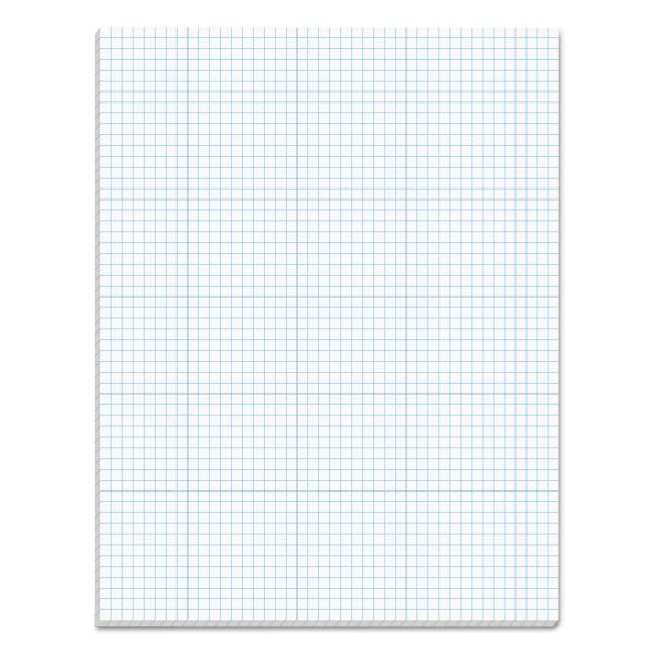 TOPS Quadrille Pads, 5 Squares/Inch, 8 1/2 x 11, White, 50 Sheets