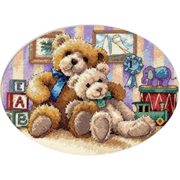 Gold Petite Warm & Fuzzy Counted Cross Stitch Kit