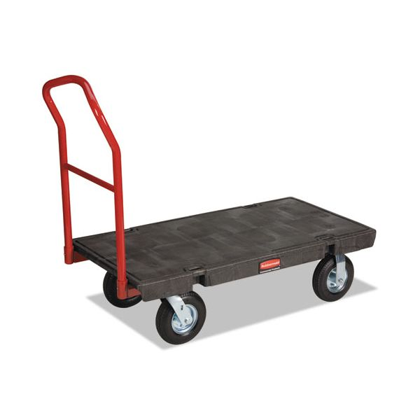 "Rubbermaid Commercial Heavy-Duty Platform Truck Cart, 1200lb Capacity, 24"" x 48"" Platform, Black"