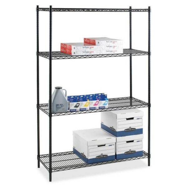 Lorell Industrial Adjustable Wire Shelving Starter Unit