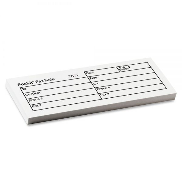 3M Post-it Printed Fax Note