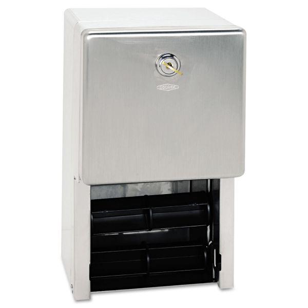 Bobrick Stainless Steel Two-Roll Toilet Paper Dispenser