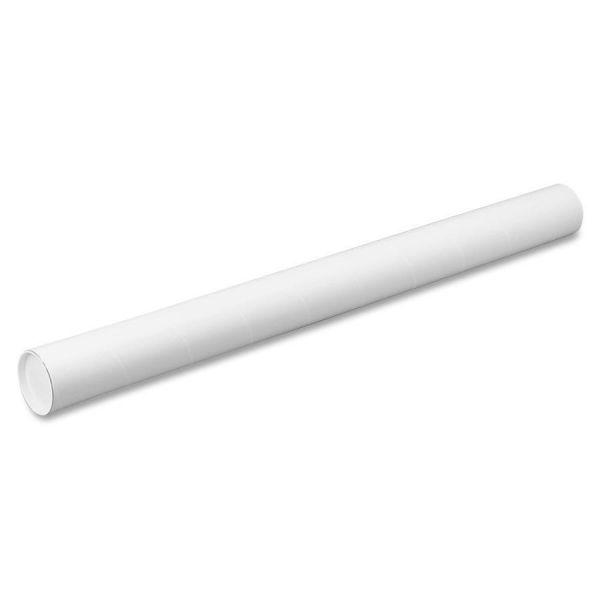 Quality Park White Mailing Tubes, 24l x 3dia, White, 25/Carton