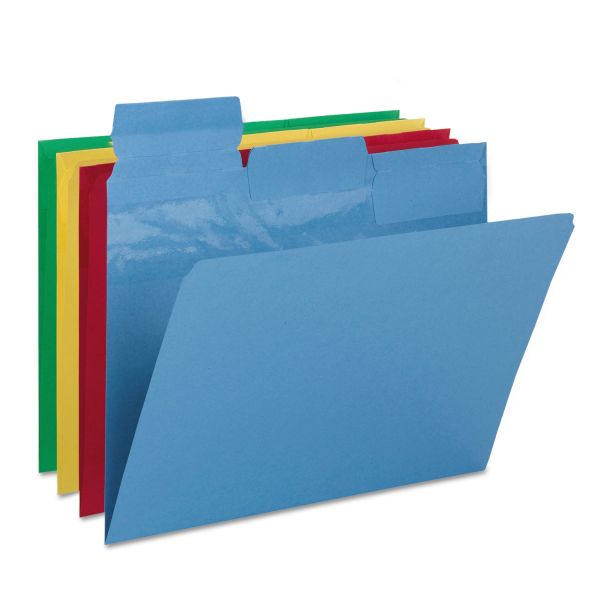 Smead Pick-A-Tab File Folder, 1/3 Cut Top Tab, Letter, Assorted Colors, 24/Pack