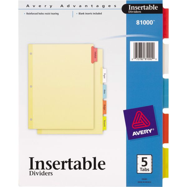 Avery Insertable Tab Index Dividers