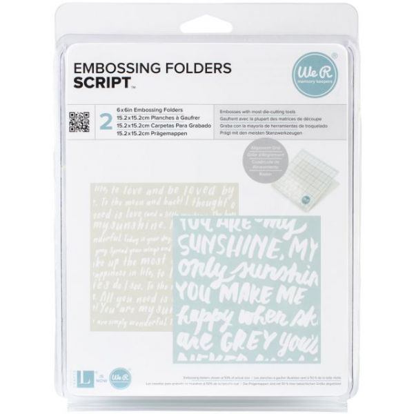 "Goosebumpz 6""X6"" Embossing Folder 2/Pkg"
