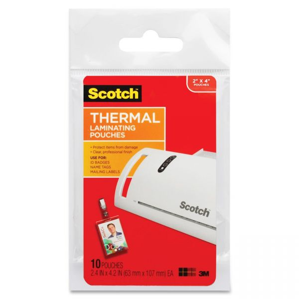Scotch Thermal ID Badge Laminating Pouches