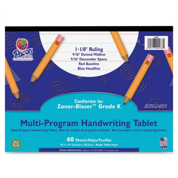 Pacon Grade K Multi-Program Handwriting Tablet