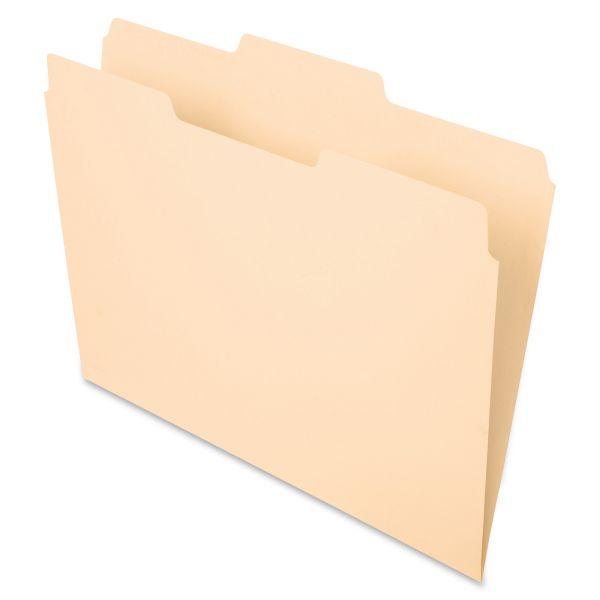 Pendaflex File Folders, 1/3 Cut, Second Position, Top Tab, Letter, Manila, 100/Box