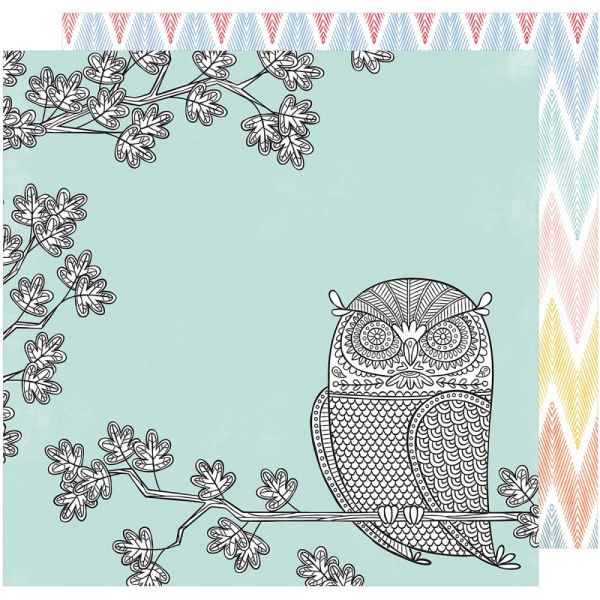 """Amy Tan Oh Happy Life Double-Sided Cardstock 12""""X12"""""""