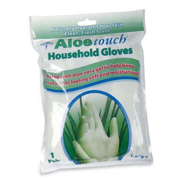 Medline Aloe Touch Household Latex Cleaning Gloves