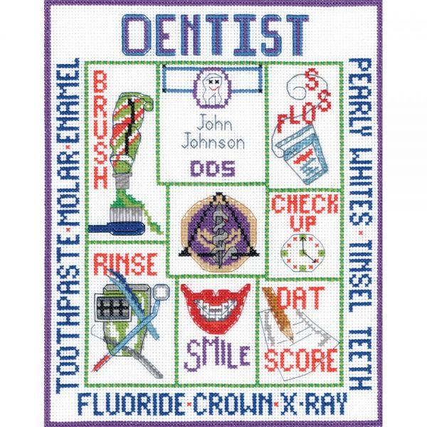 Dentist Sampler Counted Cross Stitch Kit