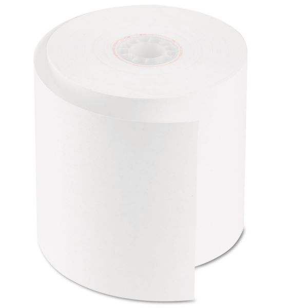 "PM Company Single Ply Cash Register/POS Rolls, 2 3/4"" x 150 ft., White, 50/Carton"