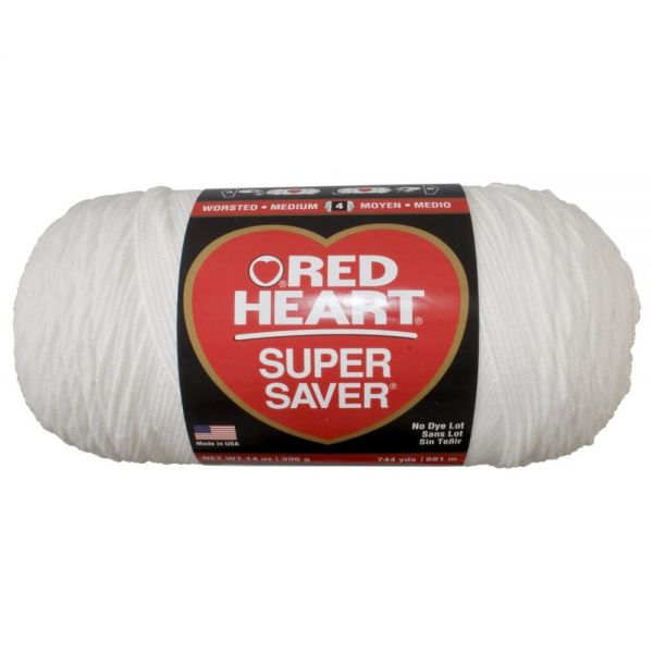 Red Heart Super Saver Yarn - White
