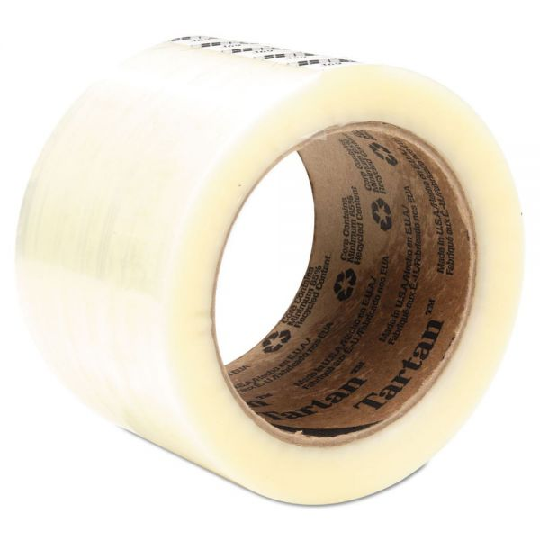 "Tartan 369 Packaging Tape, 72 mm x 100 m, 3"" Core, Clear, 24/Carton"