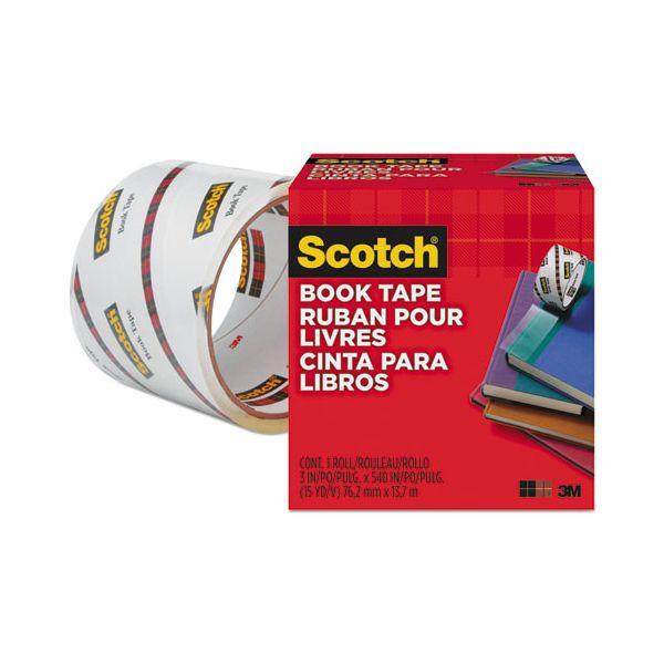 """Scotch Book Repair Tape, 3"""" x 15yds, 3"""" Core, Clear"""