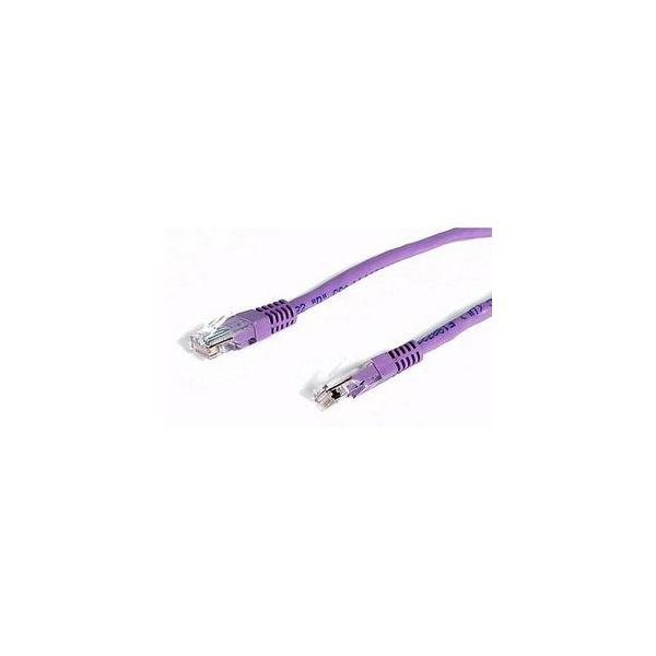 StarTech.com 6 ft Purple Molded Cat5e UTP Patch Cable