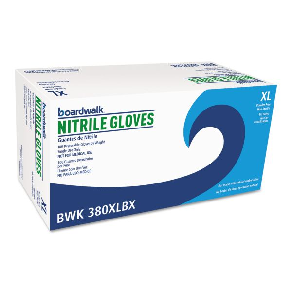 Boardwalk Disposable General-Purpose Nitrile Gloves, X-Large, Blue, 100/Box