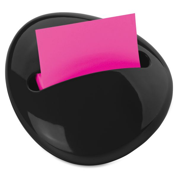 Post-it Pop-up Notes Pebble Notes Dispenser for 3 x 3 Pads, Black