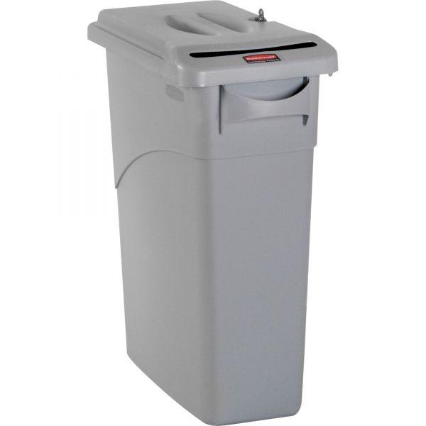 Rubbermaid Slim Jim 23 Gallon Trash Can with Locking Lid