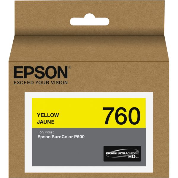 Epson 760 UltraChrome Yellow HD Ink Cartridge (T760420)