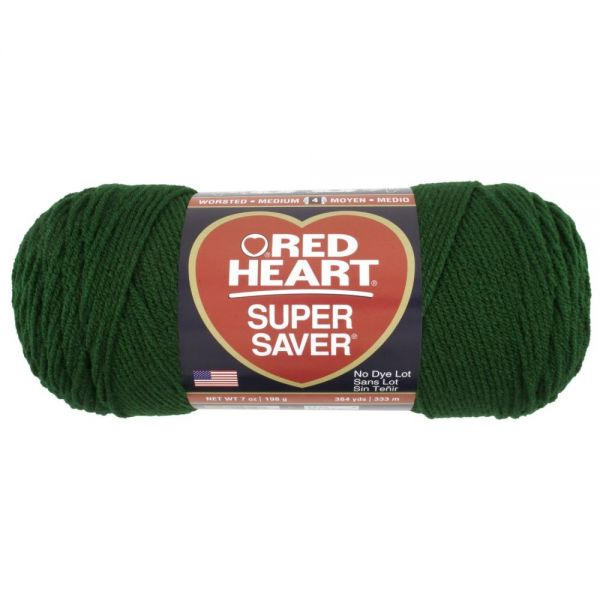 Red Heart Super Saver Yarn - Hunter Green