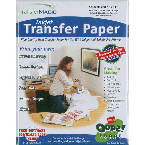 """Ink Jet Transfer Paper 8.5""""X11"""" 6/Pkg"""