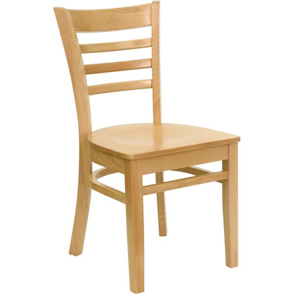 Flash Furniture Ladder Back Wooden Restaurant Chair [XU-DGW0005LAD-NAT-GG]