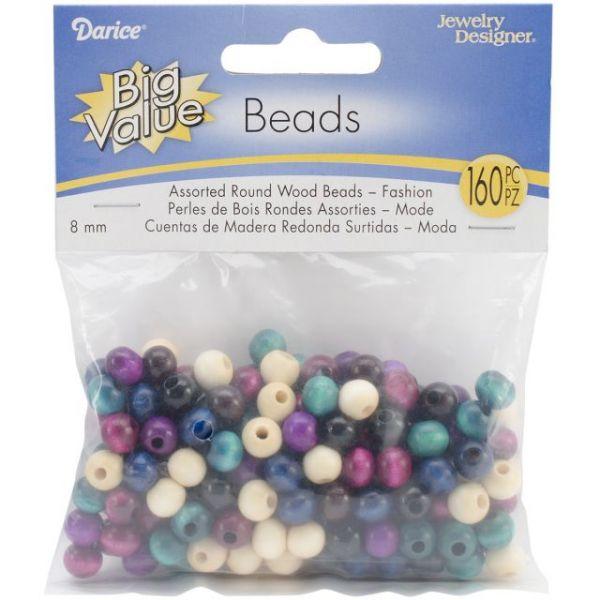 Round Wood Beads 8mm 160/Pkg