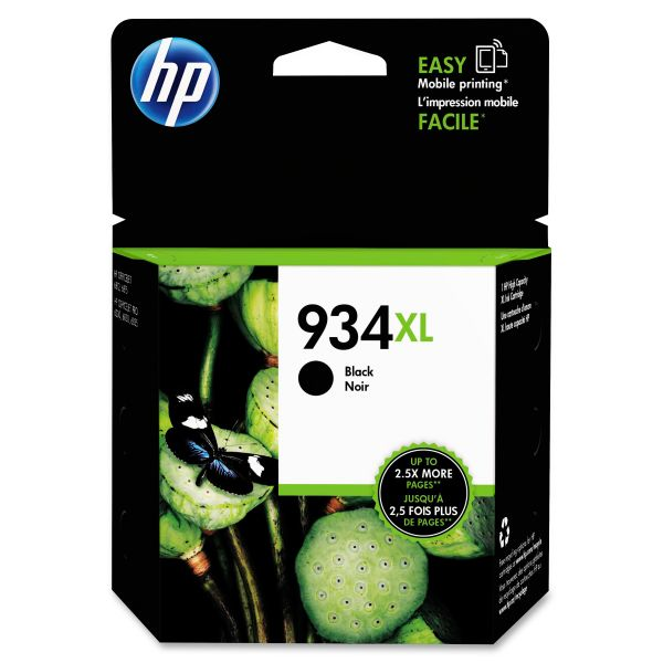 HP 934 XL High-Yield Black Ink Cartridge (C2P23AN)