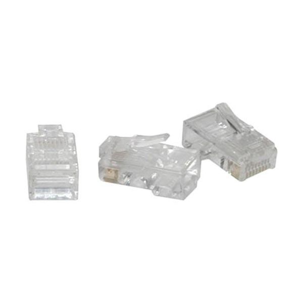 C2G RJ45 Cat5 8x8 Modular Plug for Flat Stranded Cable - 100pk