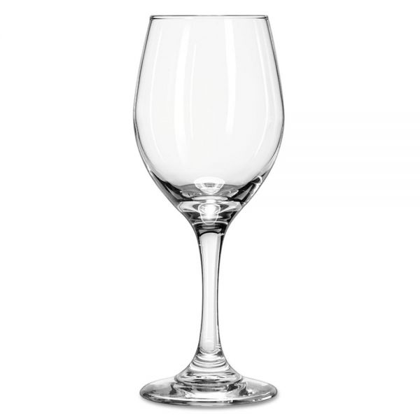 "Libbey Perception Glass Stemware, Wine, 11oz, 7 7/8"" Tall"