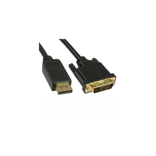 Unirise 3ft DVI-Digital Dual link to Displayport, Male - Male