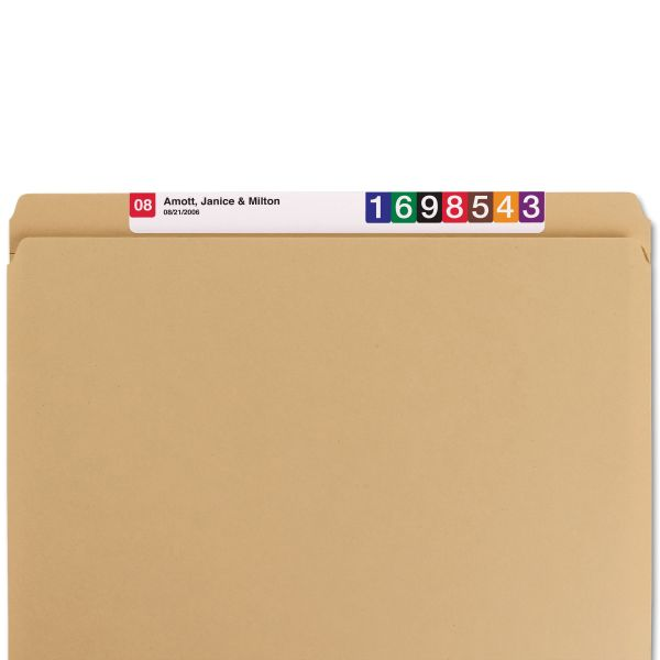Smead 10710 Kraft Colored File Folders with Reinforced Tabs
