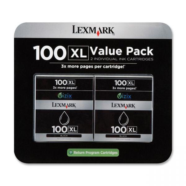 Lexmark #100XL Black High Yield Return Program Ink Cartridge (14N0683)
