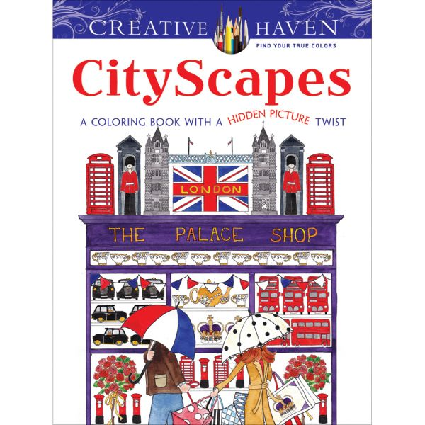 Dover Publications: Creative Haven CityScapes Coloring Book