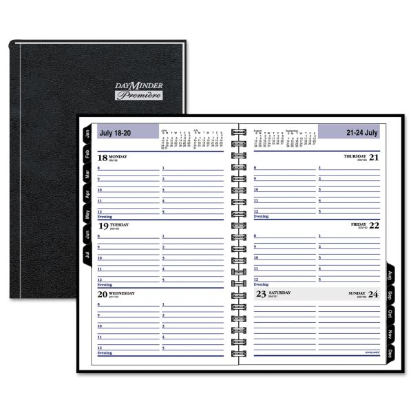 AT-A-GLANCE DayMinder Hardcover Weekly Appointment Book, 4 7/8 x 8, Black, 2018
