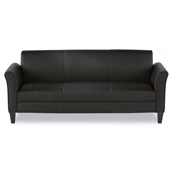 Alera Alera Reception Lounge Furniture, 3-Cushion Sofa, 77w x 31-1/2d x 32h, Black