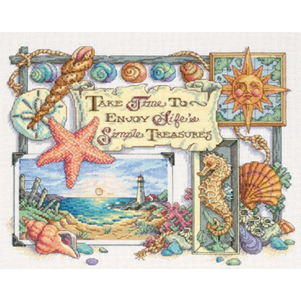 Simple Treasures Counted Cross Stitch Kit