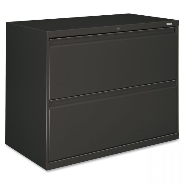 HON 800 Series Two-Drawer Lateral File, 36w x 19-1/4d x 28-3/8h, Charcoal